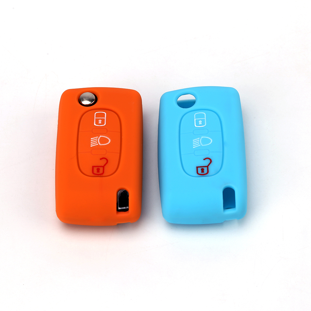 Citroen Remote Flip Key Case