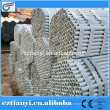China precio ASTM A53B ERW tubería de acero / tubería de acero galvanizado / tubería de acero galvanizado en caliente