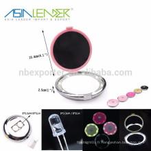 8 LED / 0.48W / 40LM LED Miroir portable, miroir avec éclairage portable