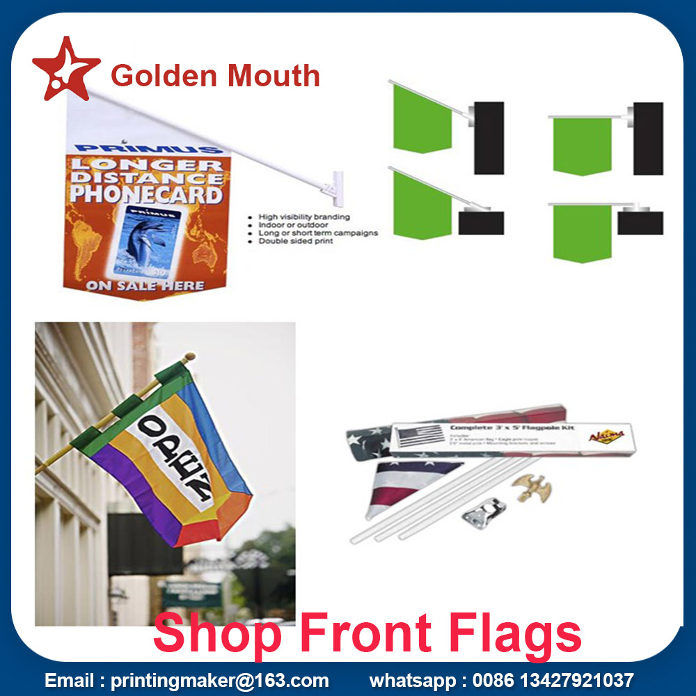 shop front flags