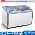 XS-260YX Horizontal Curved Glass Door Mini deep Chest Freezer