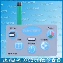 Botones en relieve panel de conmutador de membrana