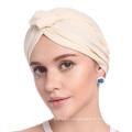 estilos de headwrap gorra de pañuelo de sombrero de turbante en blanco