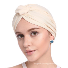 estilos de headwrap turbante en blanco gorro bandanas cap