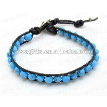 Friendship wrap Bracelets with Turquoise stone Beads