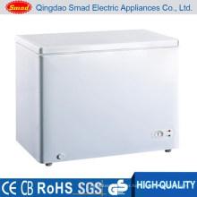 BD-155 solid door horizontal chest freezer with light