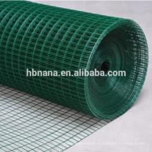 malla de alambre verde del pvc del tamaño personalizado