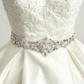 In stock new design wedding dress floor length beaded satin laced ball gown evening long dress