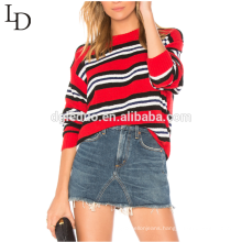 New fashion hoody women striped oversized sweater for autumn and winter