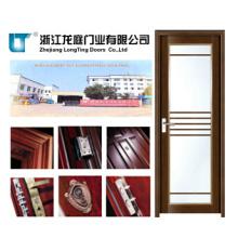 Porta do banheiro do caixilho do alumínio da cor de madeira de 55 séries