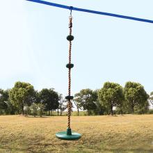 Backyard Climbing Rope Tree Swing with Platform
