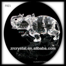 Éléphant sculpté à la main en cristal K9
