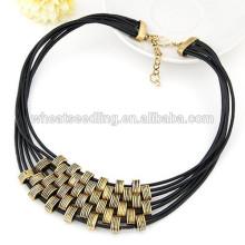 Collar de múltiples capas de la aptitud de la cadena de la cuerda de la manera caliente