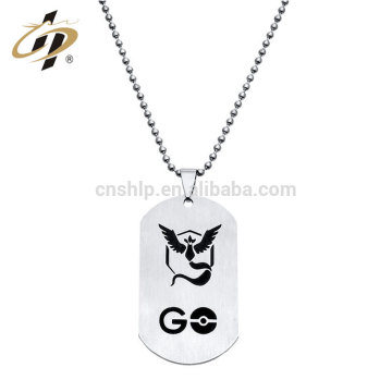 Wholesale cheap high quality soft enamel crafts military metal dog tag for men necklace