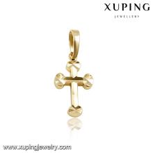 32202 costume gold plated jewellery cross pendant for men