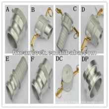 Encaixes de Camlock de alumínio da peça ABCDEF DC DP