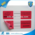 China Lieferanten selbstklebend roten Label Preis