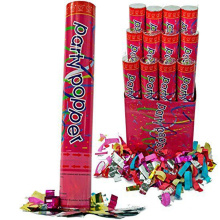 12 Party Poppers Confetti Wedding Shooter Cannon Streamer Years Eve