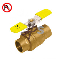 NSF approved Low Lead Brass Solder Ball Valve with Lever Handle