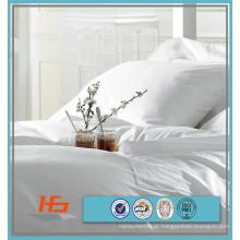 100% Algodão Branco Único / Duplo / Rainha / King Size Capa de Edredão Para Hotel Conjunto De Cama