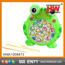 Lustige Plastik-elektrische Frosch-Fischen-Spiel-Maschine mit Licht (Batterie nicht eingeschlossen)