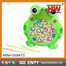 Забавная пластмассовая электрическая машина для игры в рыбалку с лягушками со светом (батарея в комплект не входит)