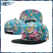 Plástico floral impressão snapback tampas e chapéus de alta qualidade hip hop chapéu