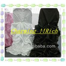 charmante gekräuselten satin Stuhlabdeckung und Tischdecken für die Hochzeit/Bankett