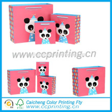 Cute paper bag with cartoon printed for gift packing