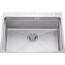 S1203 304# S. S Single Bowl Handmade Sink Topmount