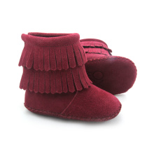 Grossist Suede Leather Baby Boots Moccasins