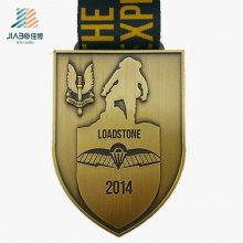 Médaille de défi en métal fait sur commande de bronze d'approvisionnement d'usine de la Chine avec le ruban