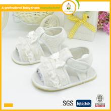 Pano de lona de alta qualidade para venda quente e sandálias para crianças com renda superior para crianças