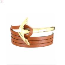 Bracelet anti-rayonnement d'ancre de verrouillage d'urgence d'acier inoxydable jaune