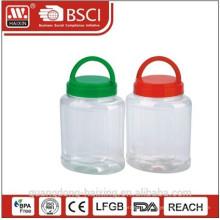 recipiente de armazenamento de plástico com alça