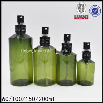 200ml botella de spray de cabello rizado verde oscuro botella de spray de cabello de agua para cosméticos