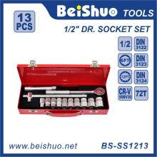 "13 PCS Conjunto de soquete de chave de carcaça de aço carbono de 1/2 """