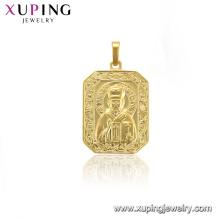 33957 xuping jewelry copper alloy square buddha cross shape pendant