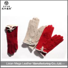 ZF5662 Los guantes encantadores de las lanas de la señora de la más nueva manera