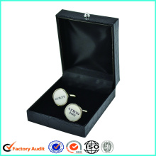 Venda quente Leatherette Paper Cufflinks Package Box