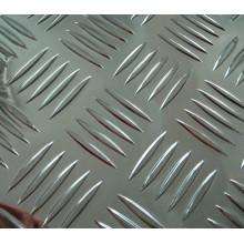 1060 H14 Big 5 Barras Folha De Alumínio Quadriculado