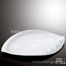 Bestseller haltbares weißes Porzellan-Ofen sicheres Hotelgeschirr