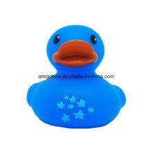 Pato azul bonito do banho para que os