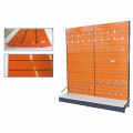 Powder Coating Supermarket Metal Slat Shelf Wall Display Shelf by Factory