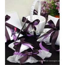 2015 almohadillas de anillo decorativo barato diseños de bordado almohada anillo de boda almohada almohada conjunto de anillo
