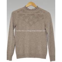 Кружевной воротник кашемировый свитер
