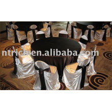 Satin chair cover,bag/self-tie chair cover,banquet/hotel chair cover