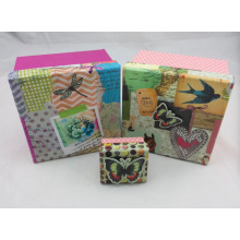 Cute Printed Paper Gift Box with Die-Cut Shape on Lid