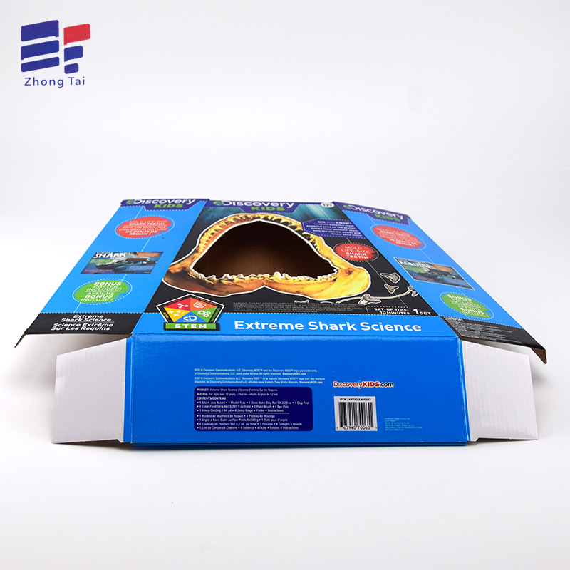 Colorful printing corrugate paper toy packaging box