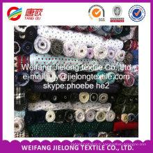 Tissu de flanelle de coton 100% imprimé pour la feuille de lit